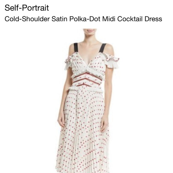 c4b5bbf8f548 Self-Portrait Dresses | Self Portrait Red Polka Dot Midi | Poshmark